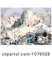 Men Climbing The Mont Pers Glacier Upper Engadin Graubunden Switzerland Royalty Free Stock Photography