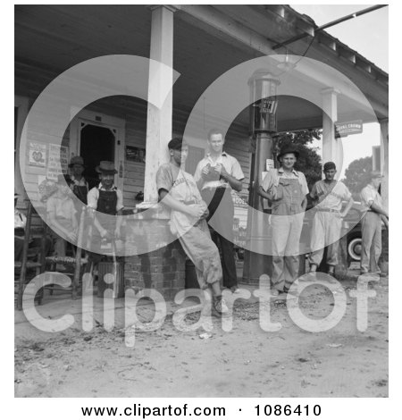 Men Standing Around, Fourth of July 1934 - Free Historical Baseball Stock Photography by JVPD