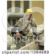 Military Practice Of Rescuing Victims Free Stock Photography