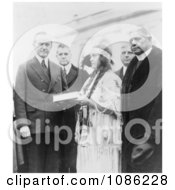 Miss Ruth Muskrat With President Coolidge Free Historical Stock Photography by JVPD