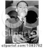 MLK Holding A Medallion Historical Stock Photography
