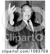 MLK With One Hand Up Historical Stock Photography