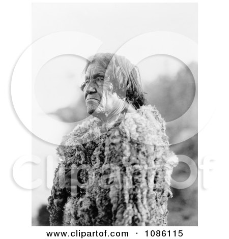 Mohave Man Wearing Rabbit Skin - Free Historical Stock Photography by JVPD