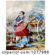 Molly Pitcher Royalty Free Historical Clip Art