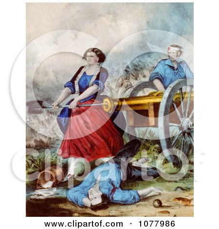 Molly Pitcher - Royalty Free Historical Clip Art  by JVPD
