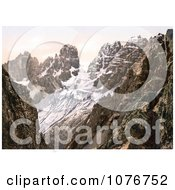 Monte Cristallo And Piz Popena Group Tyrol Austria Royalty Free Stock Photography