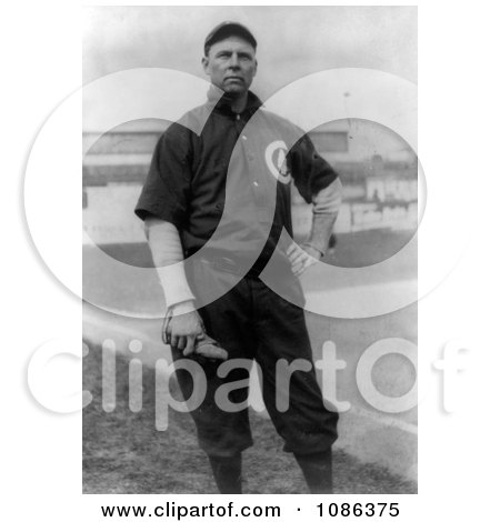 Mordecai Brown or Three Finger, a Pitcher for the Chicago Cubs - Free Historical Baseball Stock Photography by JVPD