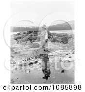 Nakoaktok Man On Shore Free Historical Stock Photography
