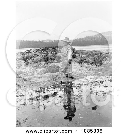 Nakoaktok Man on Shore - Free Historical Stock Photography by JVPD