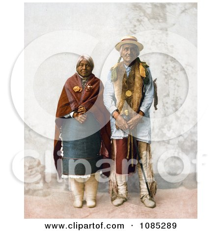 Native American Couple, Jose Jesus And His Wife, Standing - Free Photochrome Stock Photo by JVPD