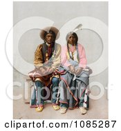 Native American Couple Pee Viggi And His Wife Sitting Side By Side Free Photochrome Stock Photo