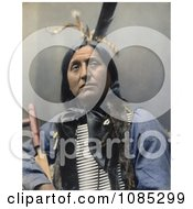 Native American Named Left Hand Bear Oglala Indian Chief Wearing A Breast Plate And Looking Off To The Right Free Photochrome Stock Photo