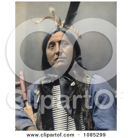 Native American Named Left Hand Bear, Oglala Indian Chief, Wearing A Breast Plate And Looking Off To The Right - Free Photochrome Stock Photo by JVPD