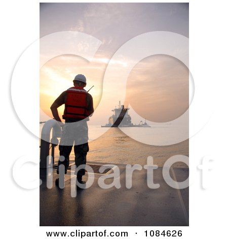 Navy Sailor Standing on the Deck of the Improved Navy Lighterage System (INLS) Discharge Facility - Free Stock Photography by JVPD