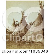 Nez Perce Indian Tipis Free Historical Stock Photography