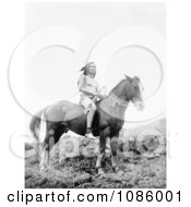 Nez Perce Man On Horse Free Historical Stock Photography by JVPD