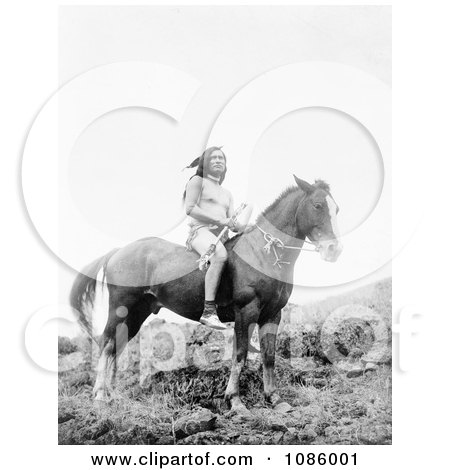 Nez Perce Man on Horse - Free Historical Stock Photography by JVPD