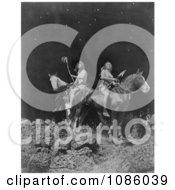 Nez Perce Men On Horseback Free Historical Stock Photography by JVPD