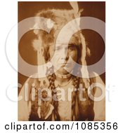 Nez Perce With Furcap Free Historical Stock Photography