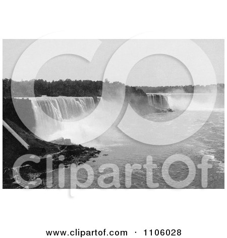 Niagara Falls As Seen From Steel Arch Bridge - Royalty Free Historical Stock Photography by JVPD