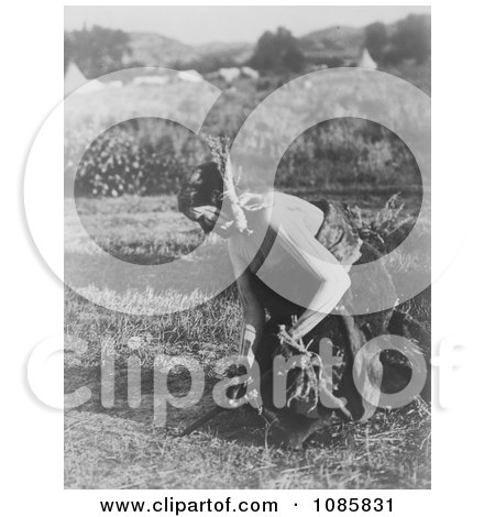 Offering Pipe to Earth During Sun Dance Ceremony - Free Historical Stock Photography by JVPD