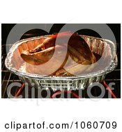 Organic Turkey Roasting In A Oven Royalty Free Thanksgiving Stock Photo by Kenny G Adams