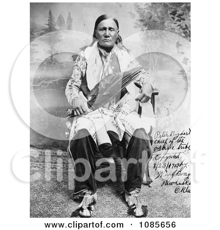Osage Indian Chief, Peter Bighart - Free Historical Stock Photography by JVPD