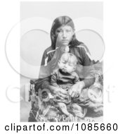 Osage Mother And Child Free Historical Stock Photography