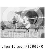 Otis Clymer Batting And Red Kleinow Catching During A Baseball Game Free Historical Baseball Stock Photography by JVPD