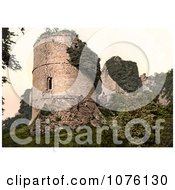 Overgrown Ivy On The Ruins Of Round Tower At Goodrich Castle In Goodrich Herefordshire England Royalty Free Stock Photography
