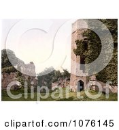 Overgrown Ivy On The Ruins Of The Octagonal Tower At Goodrich Castle In Goodrich Herefordshire England Royalty Free Stock Photography