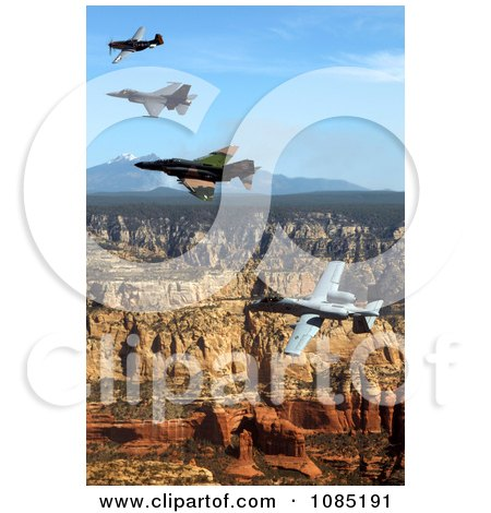 P-51 Mustang, F-4 Phantom, A-10 Thunderbolt, F-16 Fighting Falcon - Free Stock Photography by JVPD