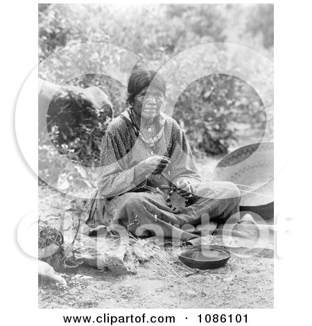Paiute Basket Maker - Free Historical Stock Photography by JVPD