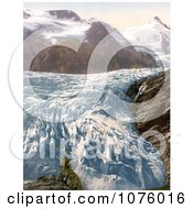 Pasterze Glacier And Grossglockner Mountain In Carinthia Austria Royalty Free Historical Clip Art