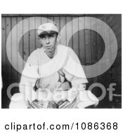 Patrick William Maloney Sitting On A Dugout Bench 1912 Free Historical Baseball Stock Photography by JVPD
