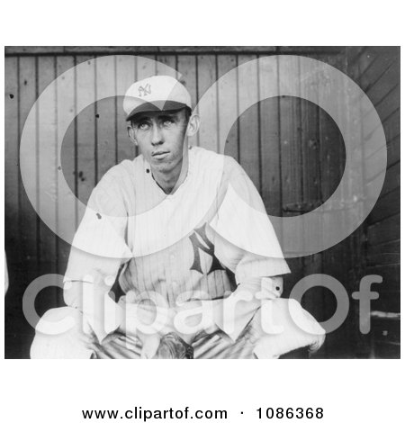 Patrick William Maloney Sitting on a Dugout Bench, 1912 - Free Historical Baseball Stock Photography by JVPD