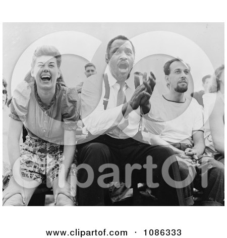 Paul Robeson and Jose Ferrer Watching a Baseball Game - Free Historical Baseball Stock Photography by JVPD