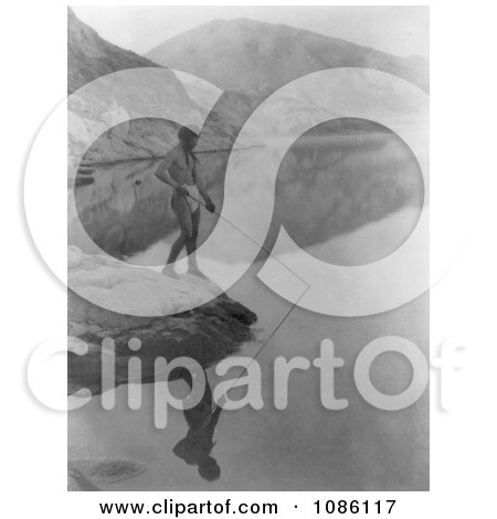 Paviotso Man Spear Fishing - Free Historical Stock Photography by JVPD