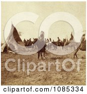 Pawnee Indian Camp Free Historical Stock Photography