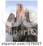 Peaks Of The Rosengarten Group Tyrol Austria Royalty Free Historical Clip Art by JVPD