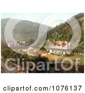 People Enjoying The Weather Out On The Pleasure Ground In Glen Helen Peel Isle Of Man England Royalty Free Stock Photography