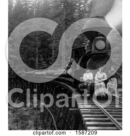 People on a Logging Train by JVPD