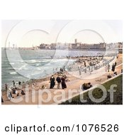 People On The Beach And Promenade In Margate St MargaretS Bay North Foreland Thanet East Kent England UK Royalty Free Stock Photography