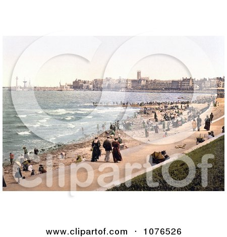 People on the Beach and Promenade in Margate St Margaret's Bay North Foreland Thanet East Kent England UK - Royalty Free Stock Photography  by JVPD