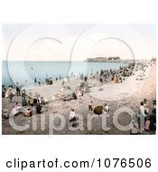 People On The Beach In Morecambe Lancashire England United Kingdom Royalty Free Stock Photography