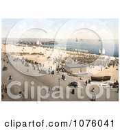 People On The Beach Promenade Near Britannia Pier In Yarmouth Isle Of Wright England UK Royalty Free Stock Photography