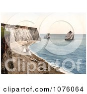 People On The Beach With Tents On The Isle Of Wight England Royalty Free Stock Photography