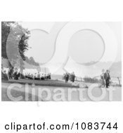 People Strolling At Prospect Point Park Niagara Falls Royalty Free Historical Stock Photography by JVPD