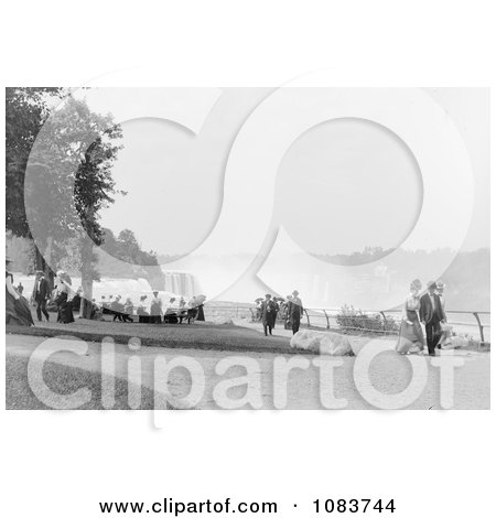 People Strolling At Prospect Point Park, Niagara Falls - Royalty Free Historical Stock Photography by JVPD