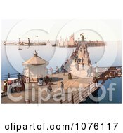People Strolling Past The Reads Grand Camera Obscura Building On The Margate Jetty In Margate Thanet Kent England UK Royalty Free Stock Photography